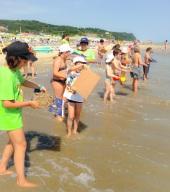 la sabbia torna in mare