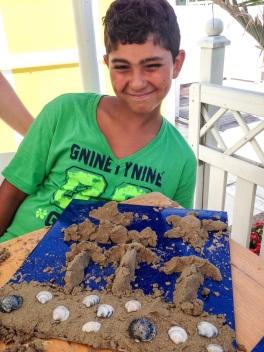 scultura di sabbia